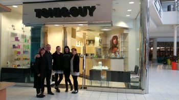 Lisa, Brian, Rebecca, Sierra, and Nikki final photo in front of Toni & Guy North Point