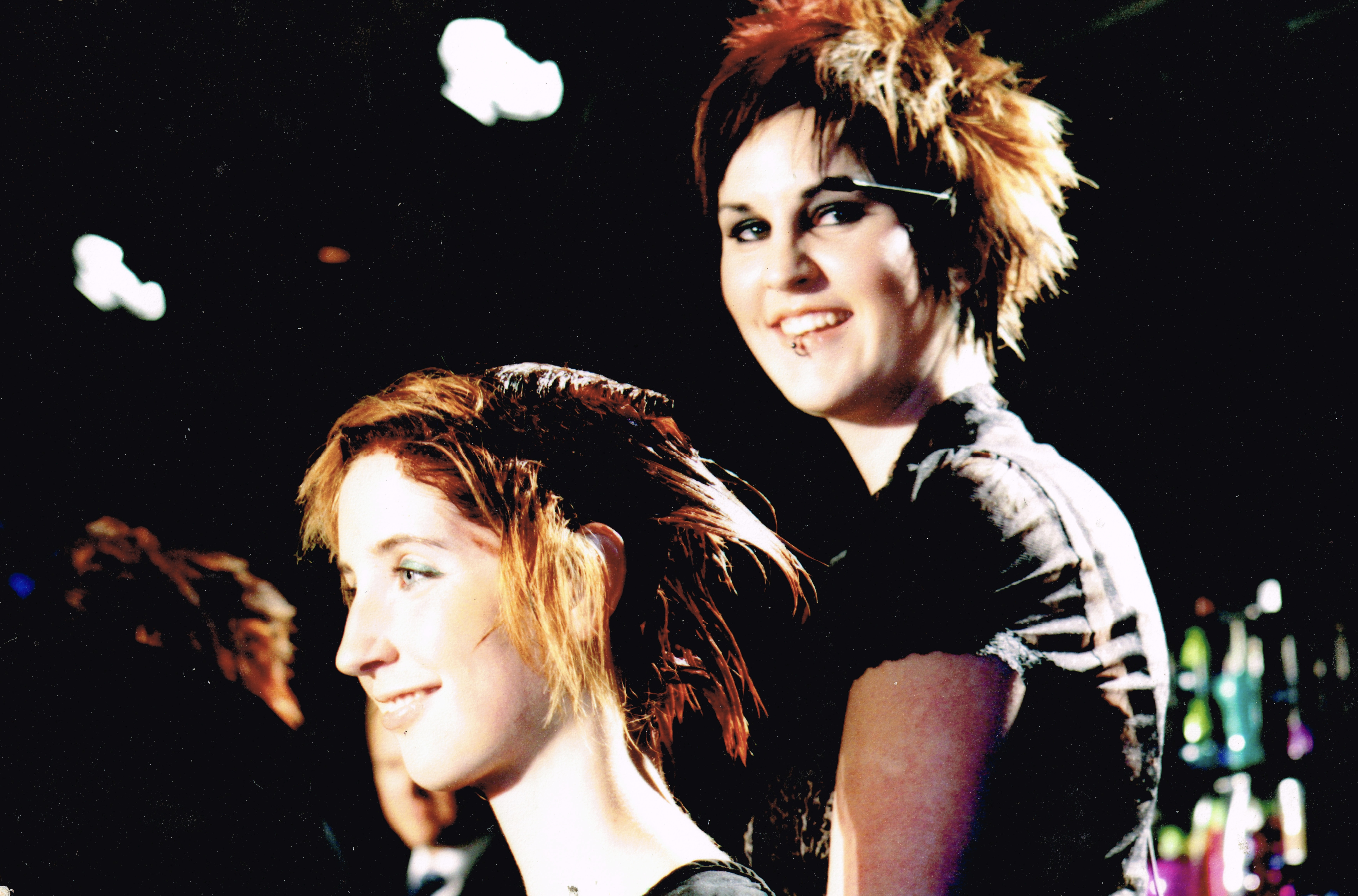 Sierra on stage in 2005 at a Toni & Guy Event